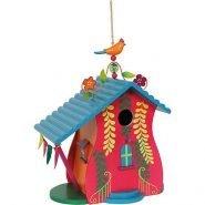 Beschilderd vogelhuisje